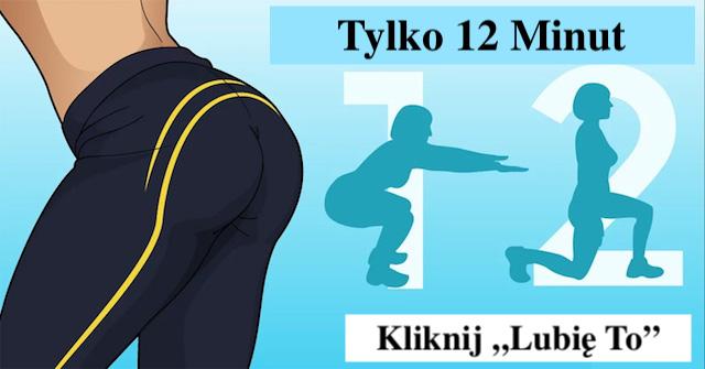 12-min trening ujędruiący i redukujący tłuszcz z brzucha – bioder – ud