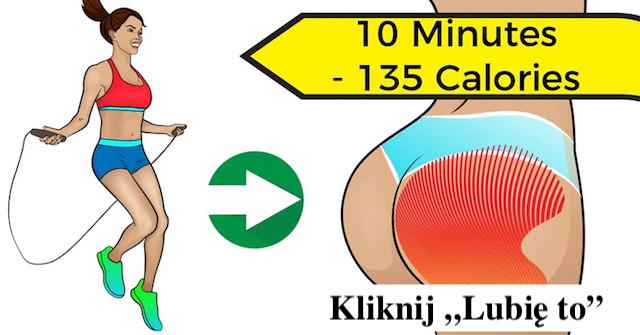 Spal 135 kalorii w zaledwie 10 minut dzięki temu Treningowi